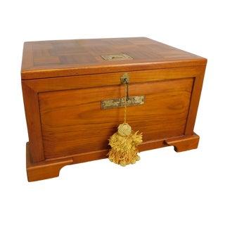 "Nautical Teak Lidded Chest ""Jolly Box"" For Sale"