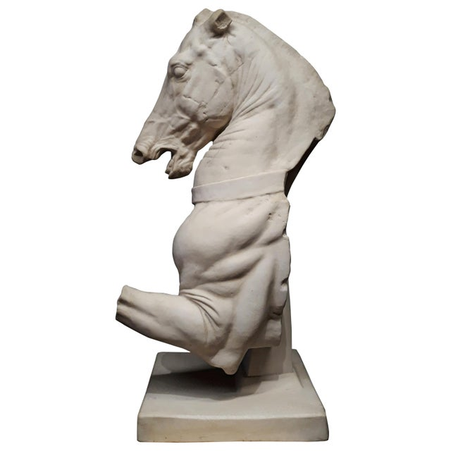 White Monumental Continental Horse Sculpture For Sale - Image 8 of 8