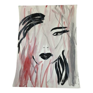 "Anastasia George Original Acrylic ""Bad Hair Day"" Painting For Sale"