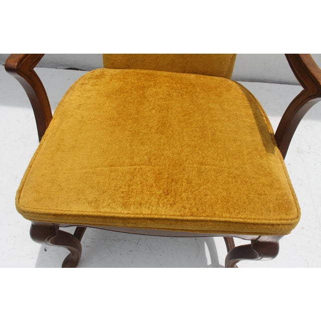 Jim Peed For Drexel Brass Final Accent Tall Wingback Chair - Image 10 of 11