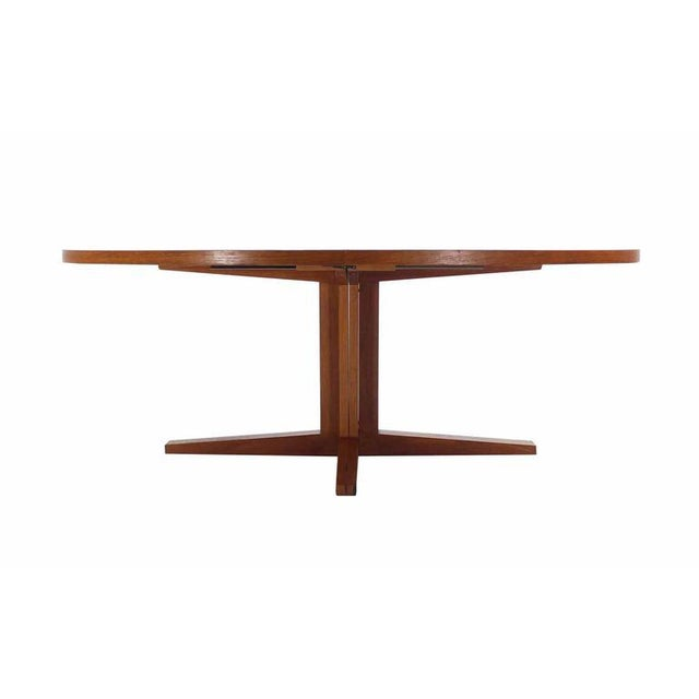 Early 20th Century Danish Mid Century Modern Teak Dining Table with Two Leaves For Sale - Image 5 of 5