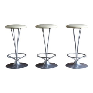 Vintage Mid Century Piet Hein for Fritz Hansen Counter Stools- Set of 3 For Sale