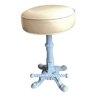 1920s French Leather Counter Stools For Sale
