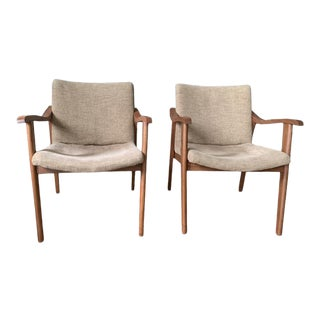 Mid 20th Century Mid-Century Modern Chairs - a Pair For Sale