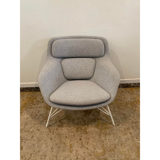 Gray Flannel Mid-Century Womb Chair For Sale - Image 9 of 9