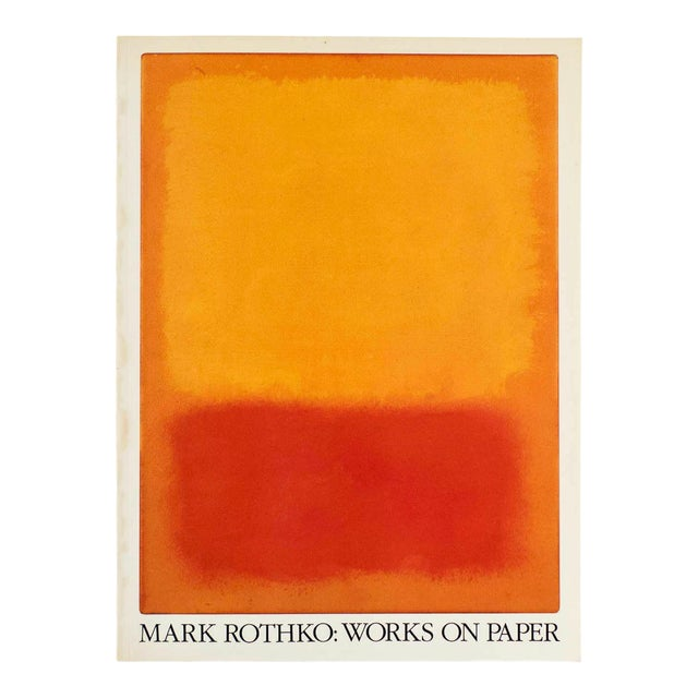 """"""" Mark Rothko : Works on Paper """" Vintage 1984 1st Edtn Abstract Expressionist Lithograph Print Exhibition Art Book For Sale"""