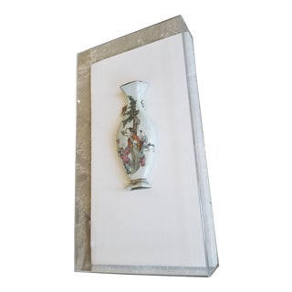 Chinese Porcelain in Lucite Box For Sale