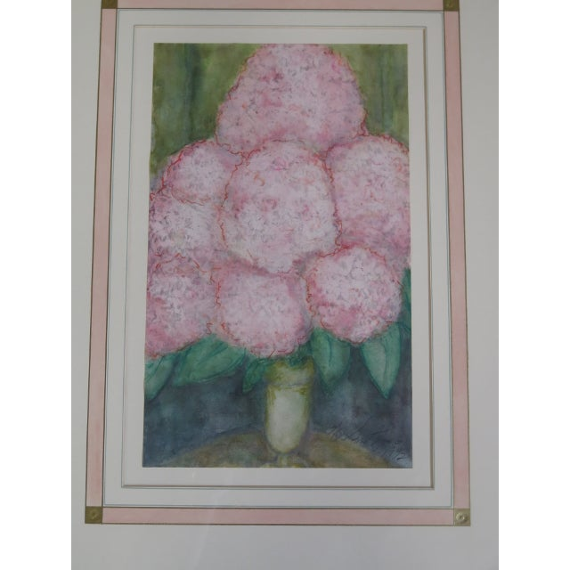 Traditional Traditional Gold Framed Signed Floral Prints - a Pair For Sale - Image 3 of 5