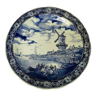 Delft Hand Painted Round Platter