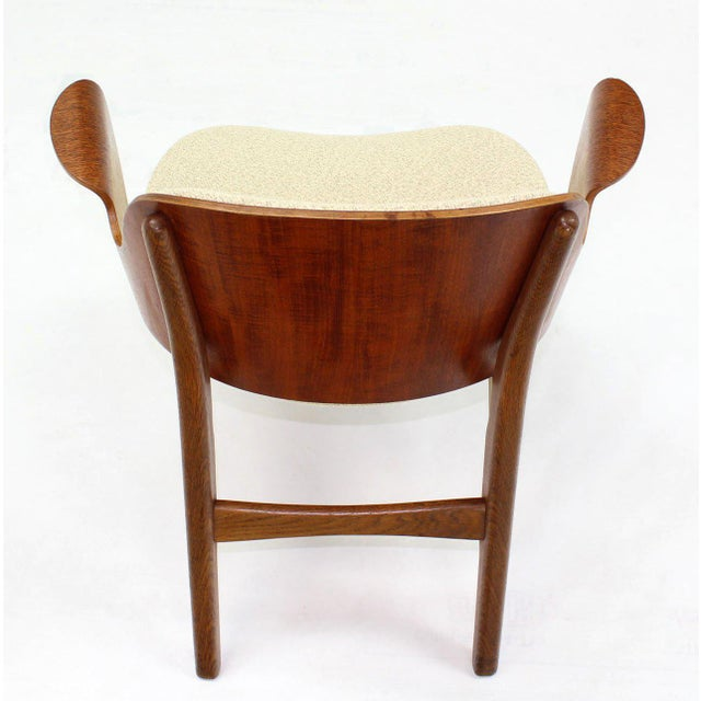 Early 20th Century Mid-Century Modern Molded Plywood Barrel Back Armchair with New Upholstery For Sale - Image 5 of 10