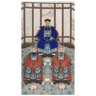 Chinese Ancestral Portrait 19th Century For Sale