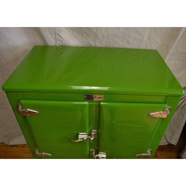 Green Ice Box Refrigerator Bar by Windsor, circa 1920s For Sale - Image 4 of 10