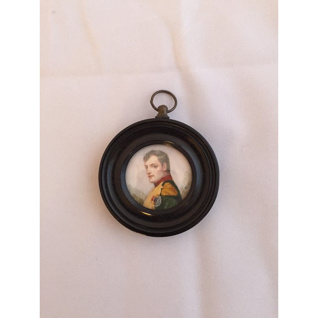 """An Anglo Indian miniature portrait of an Officer in and Ebony frame. Signed """"Bert."""" Circa the 19th Century. Please note..."""
