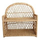 Image of Vintage Wicker Wall Shelf For Sale