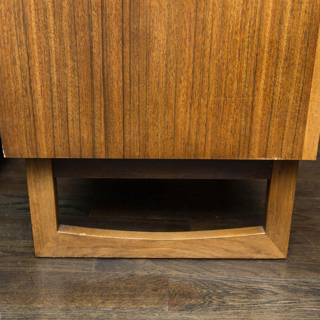 Mid-Century Drexel Composite Walnut High Chest For Sale In New York - Image 6 of 11