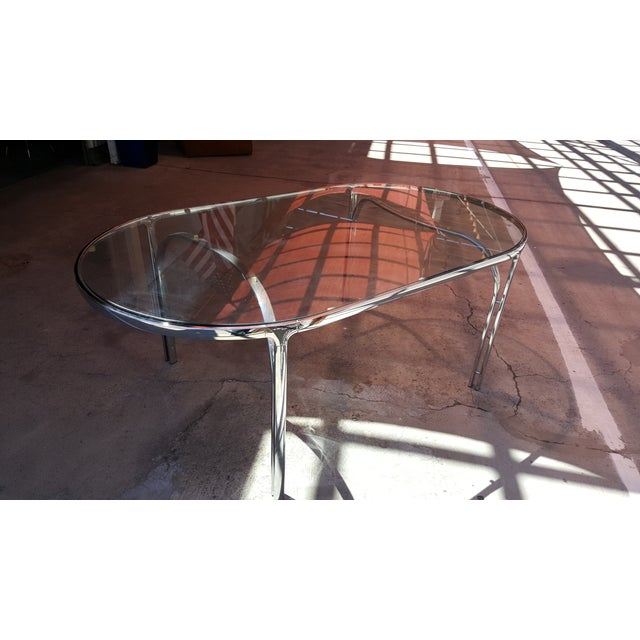 Vintage Polished Chrome Dining Table - Image 2 of 8