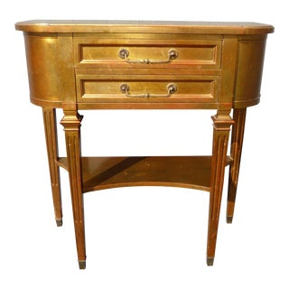 Vintage Hekman Hollywood Regency Side Entry Table For Sale