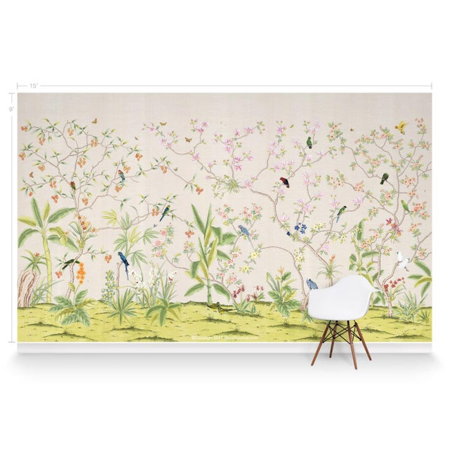Chinoiserie Casa Cosima Palisades Wallpaper Mural - Sample For Sale - Image 3 of 5