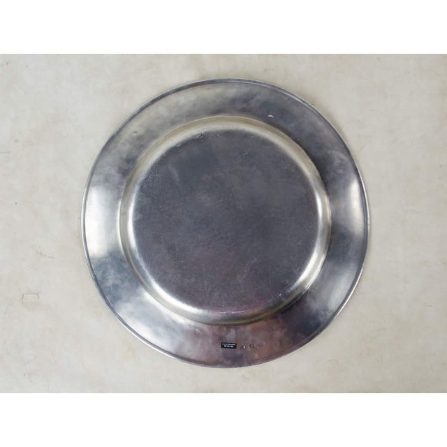 Italian Pewter Scribed Center Platter by Match Italy For Sale - Image 9 of 10