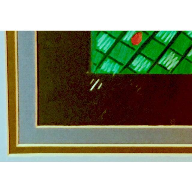 1991 Original Penny Feder Expressionist Floral Monotype Painting- Vintage/Signed For Sale - Image 10 of 13
