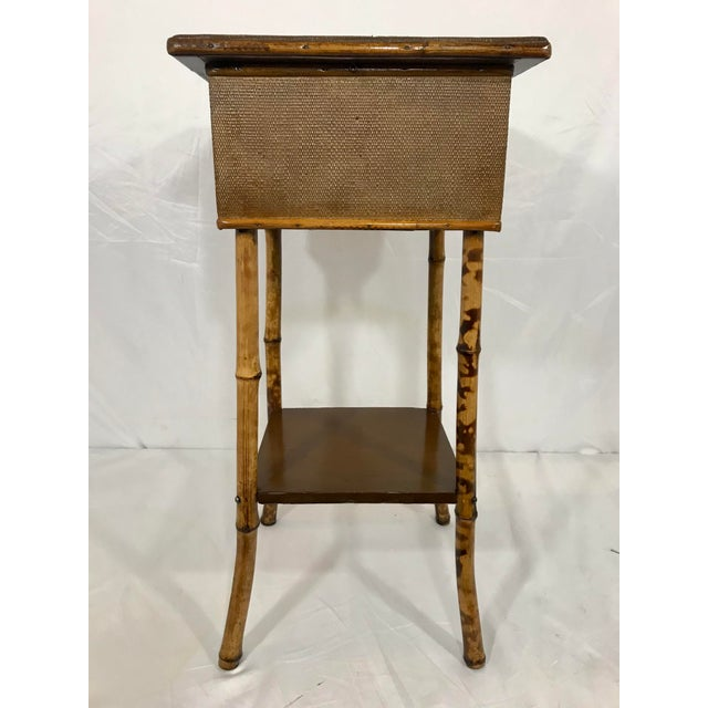 English 19th Century Bamboo Sewing Table For Sale - Image 9 of 9