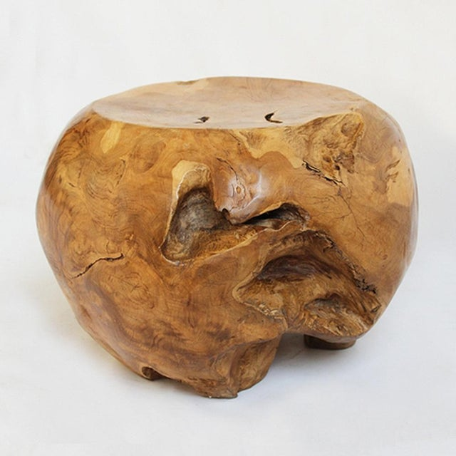 Contemporary Teak Root Side Table For Sale - Image 3 of 7