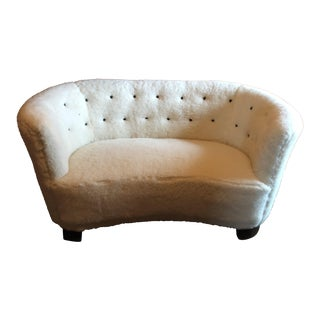 1940's Danish Slagelse Møbelværk Model 15 Banana Loveseat For Sale