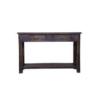 """Platt Wooden Console Table With Drawer for Entryway,Hallway, Living Room, Rustic Style Home Furniture, Natural Finish, 30.5"""" H, Brown Color For Sale"""