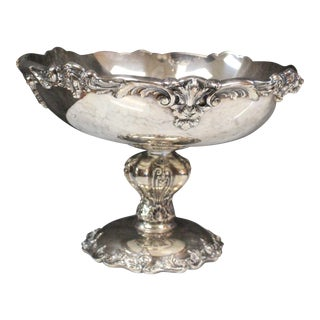 Reed and Barton Silverplate Compote For Sale