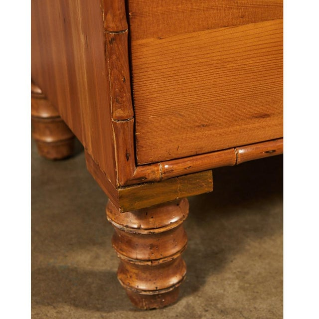 Wood French Pine Faux Bamboo Chest of Drawers For Sale - Image 7 of 9
