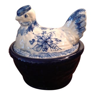 Casa Pupo Hen on Nest Petite Covered Dish For Sale