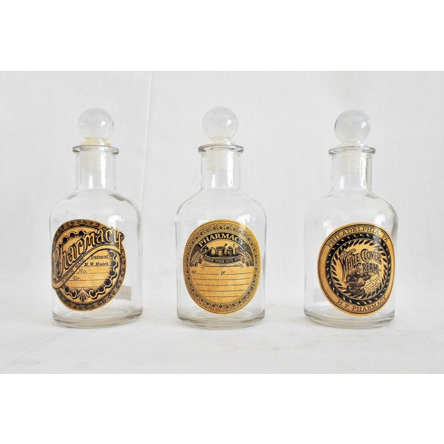 Vintage Glass Pharmacy Bottles - Set of 3 - Image 2 of 9