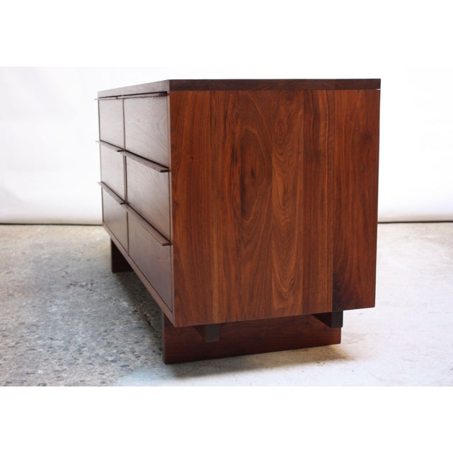 Mid-Century Modern Vintage New England Solid Walnut Chest of Drawers For Sale - Image 3 of 11