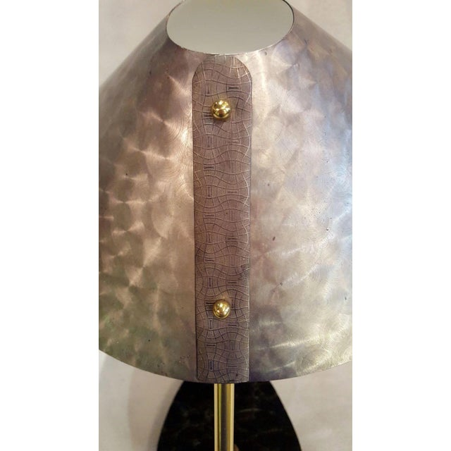 Metal Mid-Century German Ufo Space Age Brushed Aluminum Lamp For Sale - Image 7 of 10