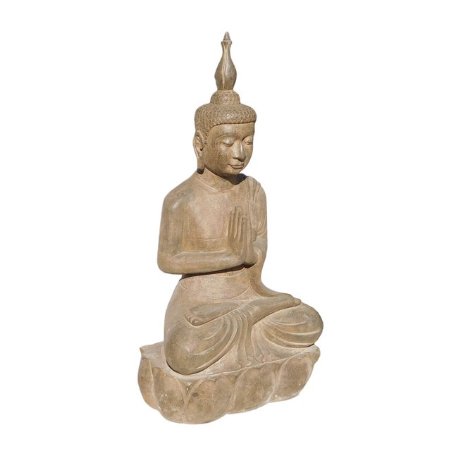 Asian Buddha Meditation Statue - Image 2 of 6