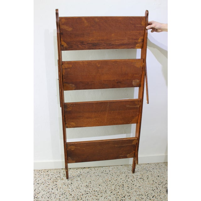 Antique Victorian Folding Bookcase in Incised Oak For Sale - Image 12 of 13