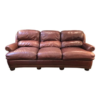 Hancock and Moore Austin Leather Sofa For Sale