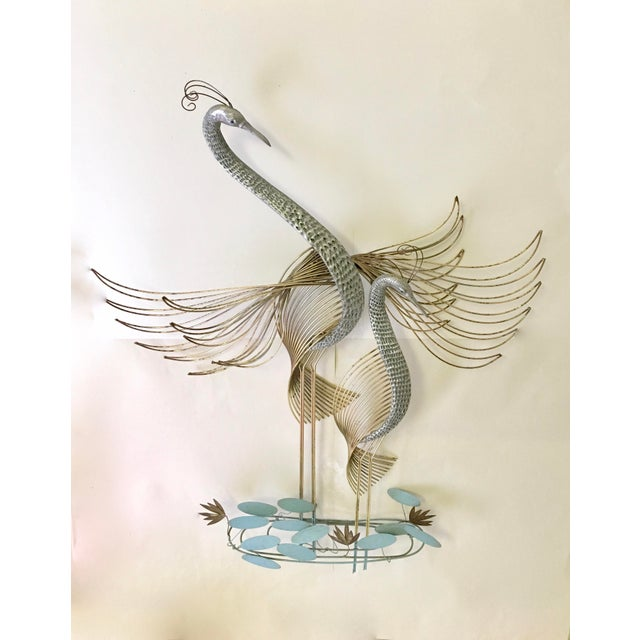 Curtis Jere Signed Cranes Wall Sculpture - Image 2 of 6