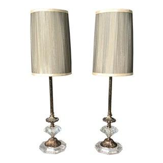 Mid-Century Boudoir Lamps - a Pair For Sale