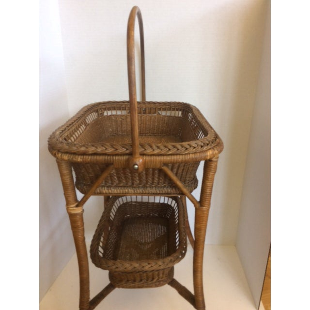 Rattan Basket Stand - Image 3 of 11