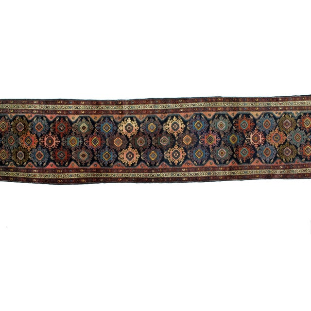 "Persian Leon Banilivi Antique Hamadan Runner - 3' x 13'8"" For Sale - Image 3 of 6"