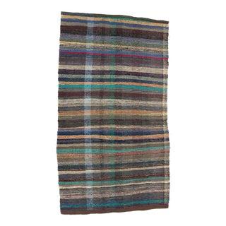 """Vintage Decorative Rag Rug - 5'3"""" x 9'5"""" For Sale"""