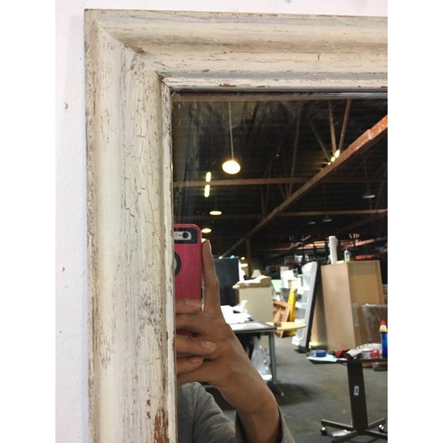 Shabby Chic White Wooden Frame Mirror - Image 3 of 4