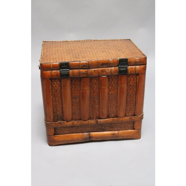 Asian Mid 18th C. Chinese Square Basket For Sale - Image 3 of 7