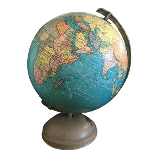 1947 Cram's Universal Terrestrial Globe For Sale