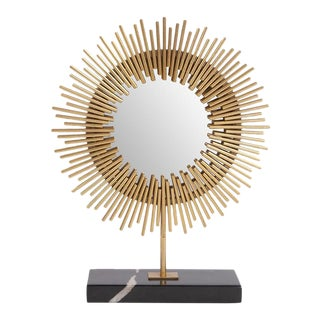 Kenneth Ludwig Chicago Sunburst Table Mirror For Sale