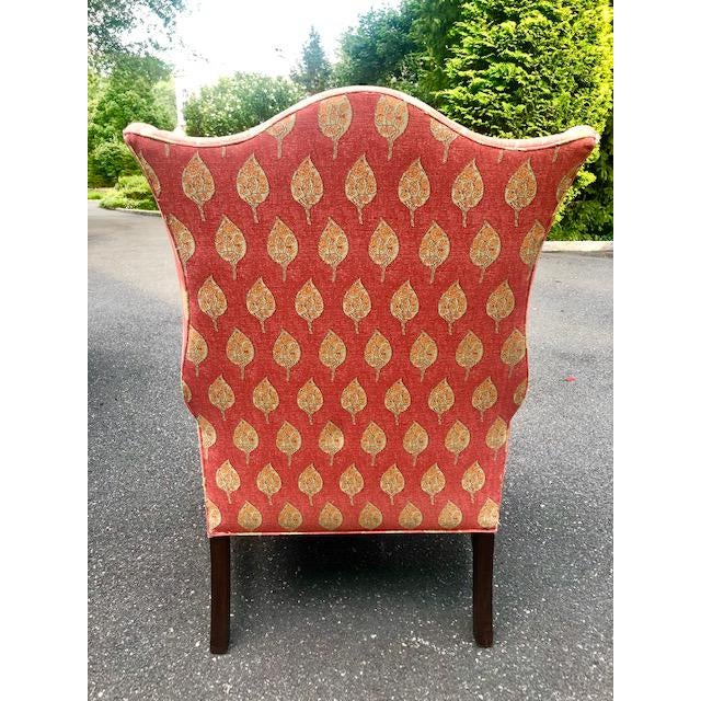 1980s 1980s Vintage Kittinger Colonial Williamsburg Wingback Chair For Sale - Image 5 of 10