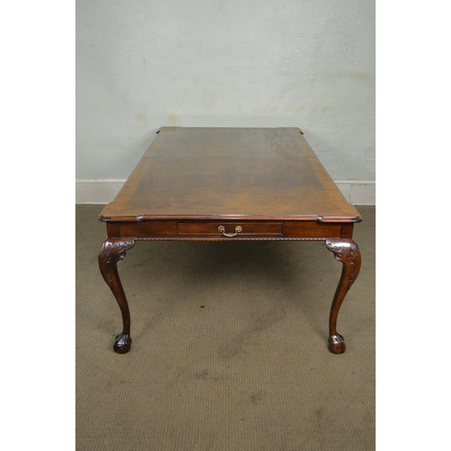 Chippendale Henredon Rittenhouse Square Mahogany Clawfoot Chippendale Style Dining Table For Sale - Image 3 of 10