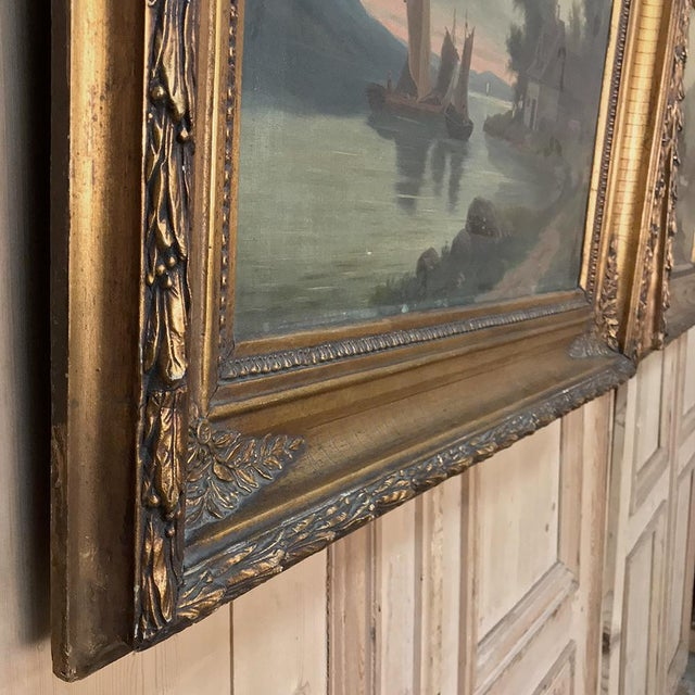 Pair 19th Century Framed Oil Paintings on Canvas For Sale - Image 11 of 13