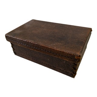 Vintage Leather Box For Sale
